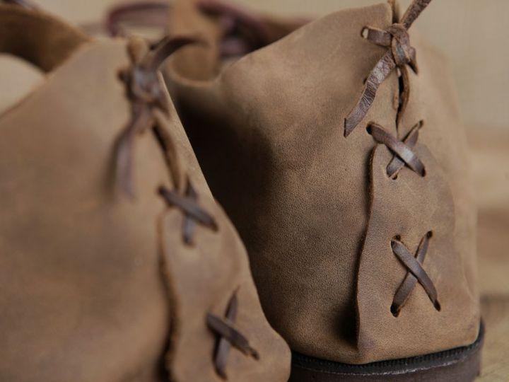 Ballerines médiévales en cuir avec semelle 43 | marron 5