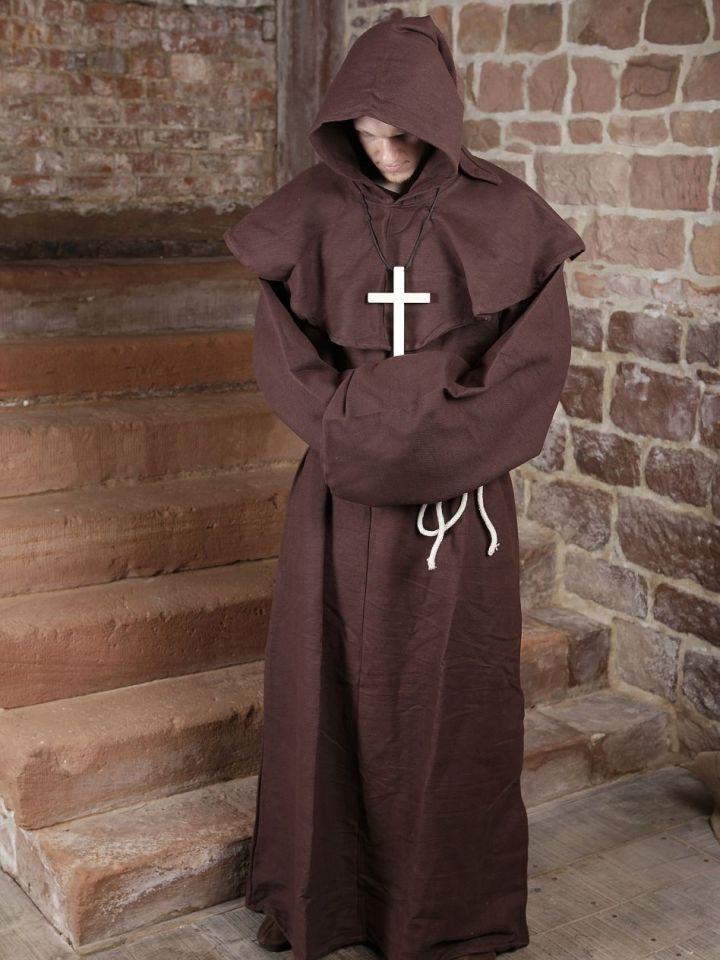 Habit de moine marron | avec croix 5
