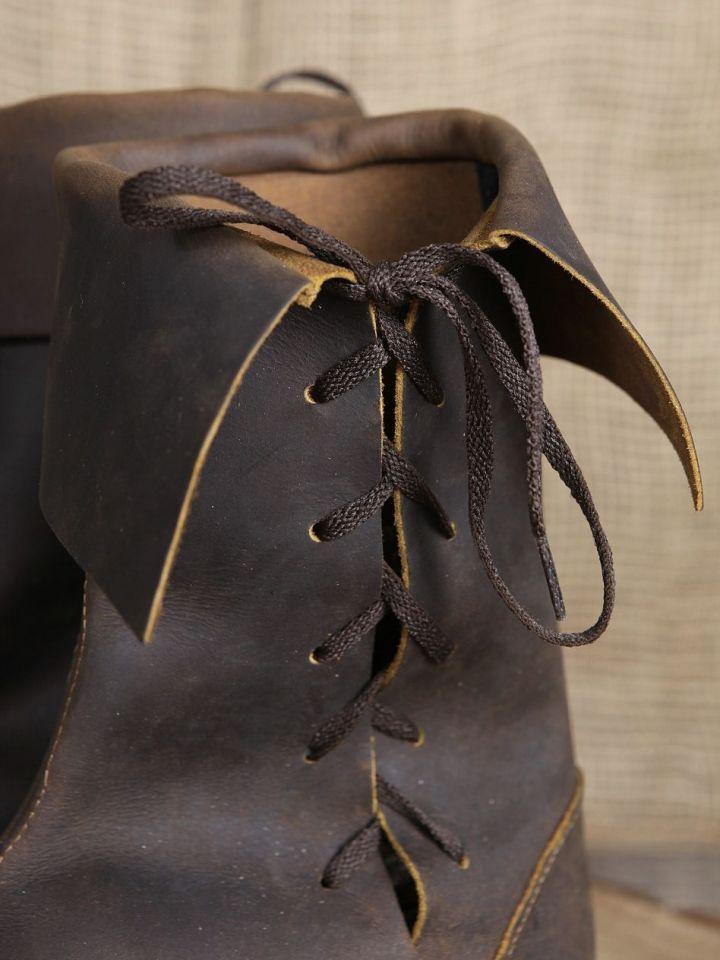 Bottines médiévales en cuir 46   noir 5