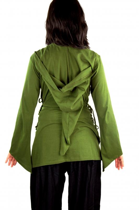 Blouse elfique en vert XXL 5
