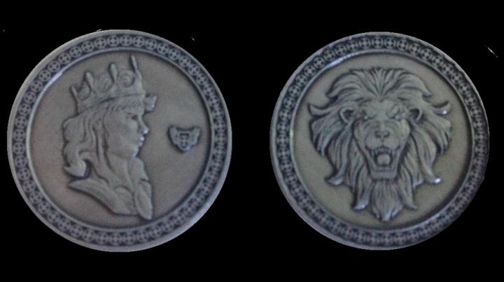 Pièces de monnaie GN Roi avec pochette en cuir 5