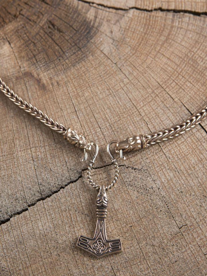 Collier Viking mailles tressées, 65 cm 5