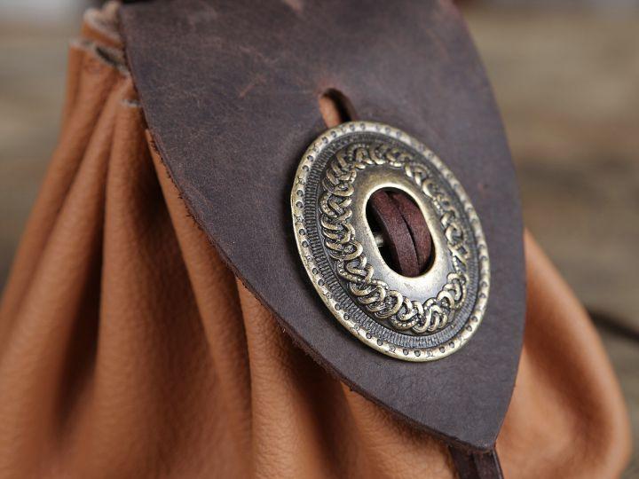 Bourse de ceinture en cuir marron clair 5