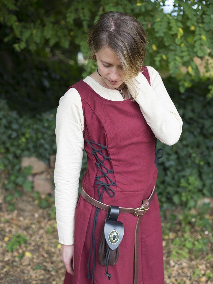 Robe médiévale sans manche en rouge S 5