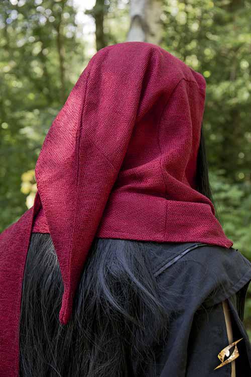Capuchon châle en rouge 5