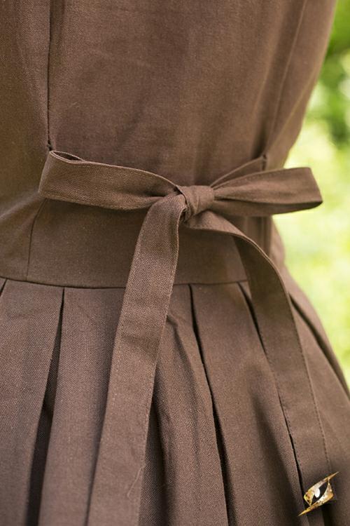 Robe légère à laçage, marron 5