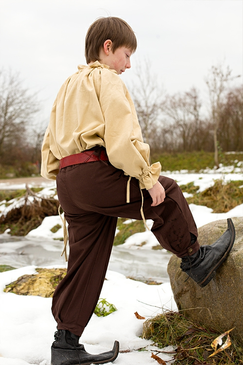 Pantalon en coton pour enfant, marron 5