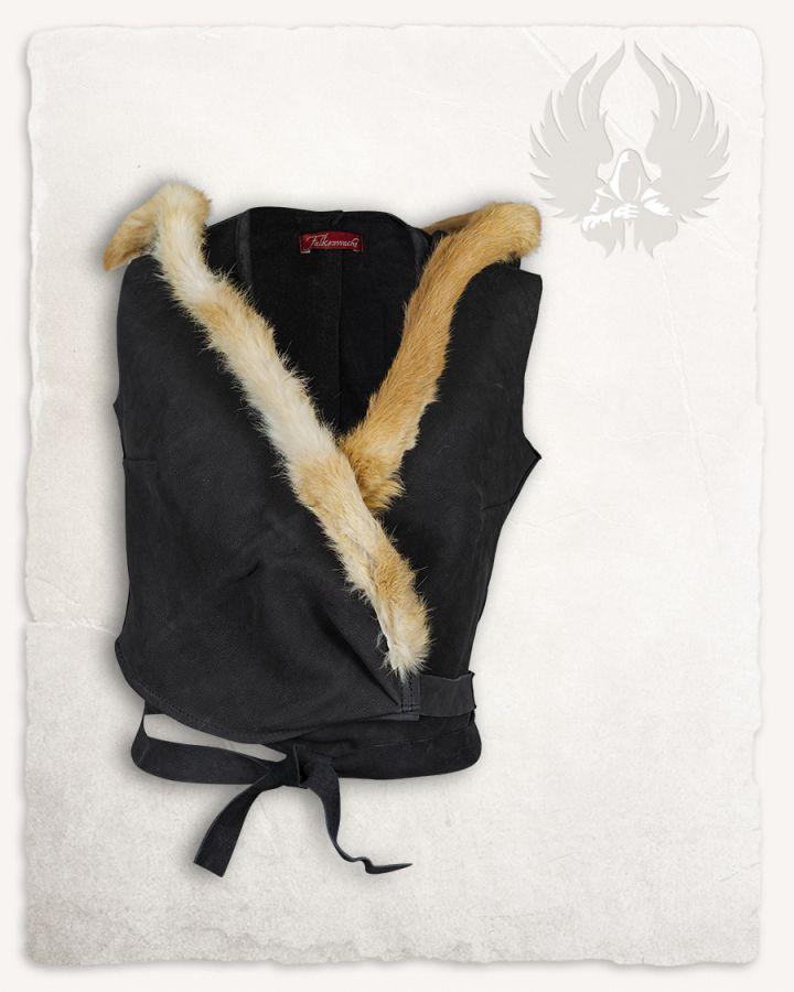 Veste à capuche en cuir noir 5