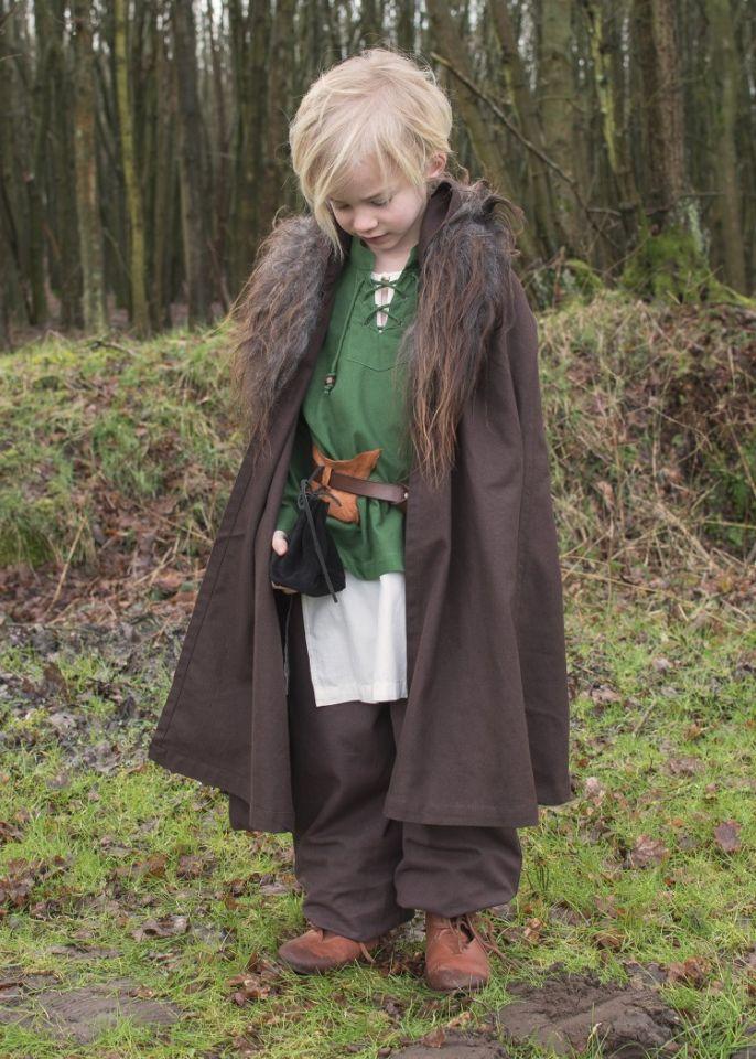 Chemise médiévale pour enfant, en vert 6