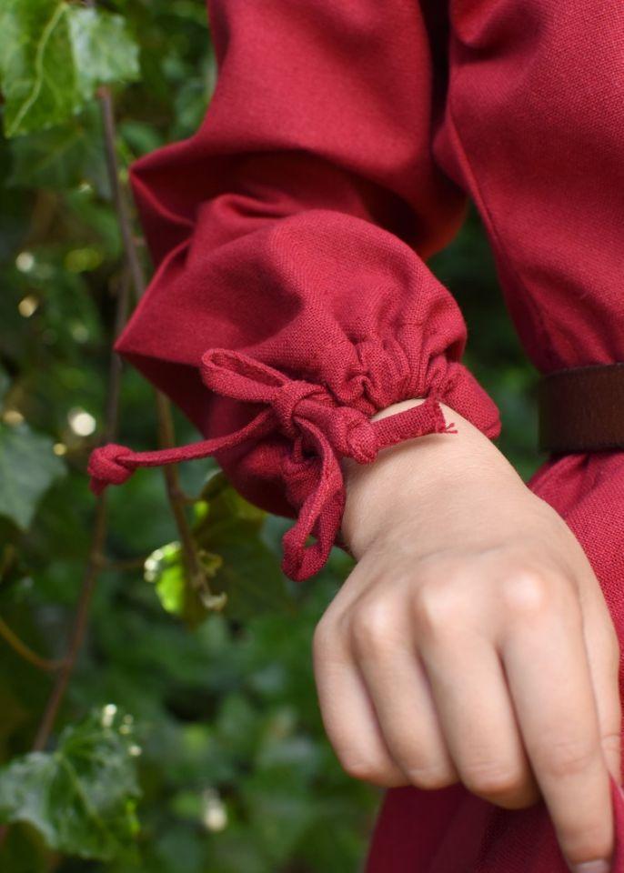 Robe médiévale Mara pour enfant en rouge 6