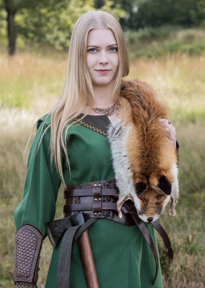 Robe viking Freydis en vert 6
