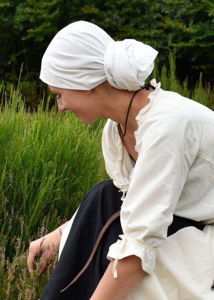 Grand foulard médiéval, écru 6