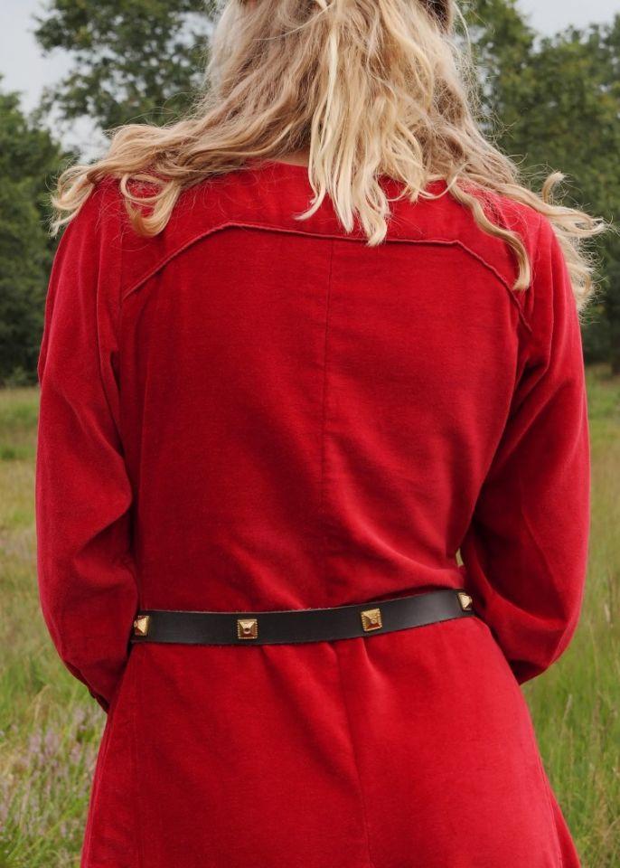 Cotehardie en velours, en rouge 6