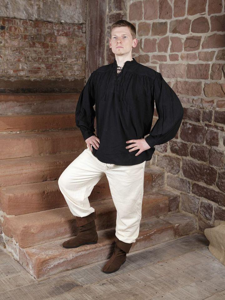 Pantalon médiéval en coton, avec poches noir XL | noir 6