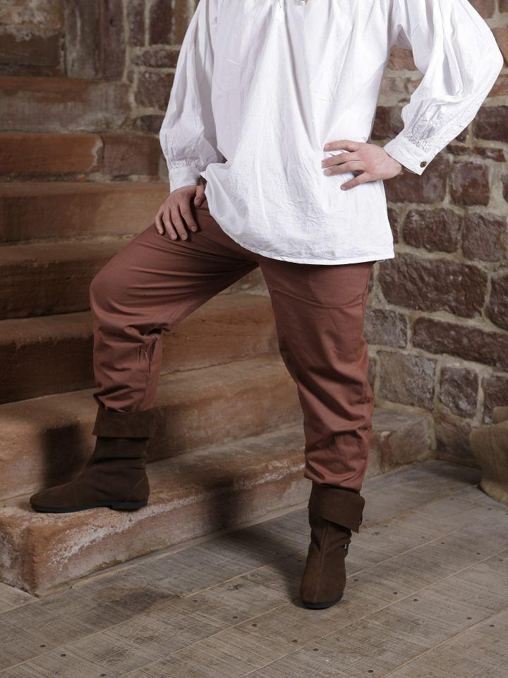 Pantalon médiéval en coton marron 6