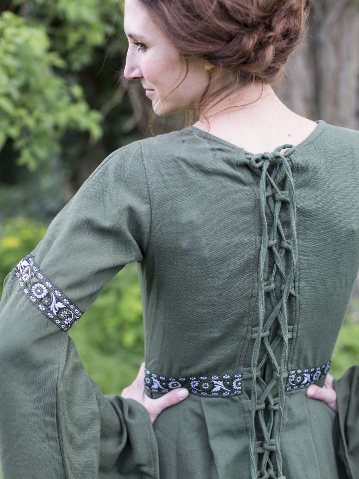 Robe médiévale vert forêt 6