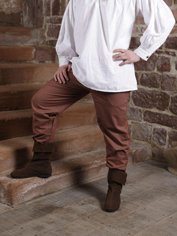 Pantalon médiéval en coton marron XXL 6
