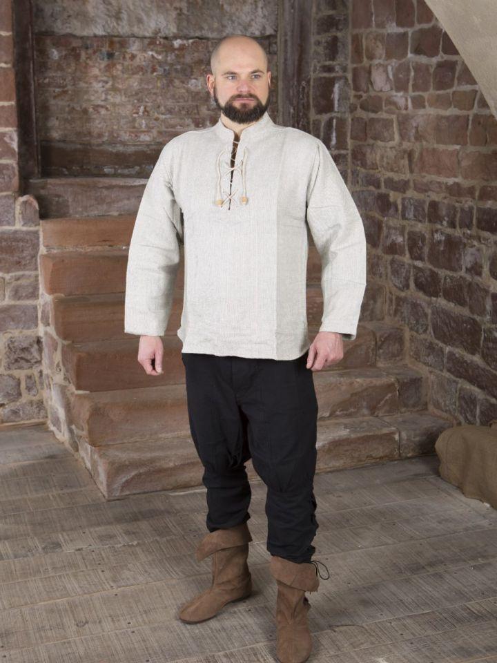 Chemise médiévale épaisse, en gris chiné XL 6