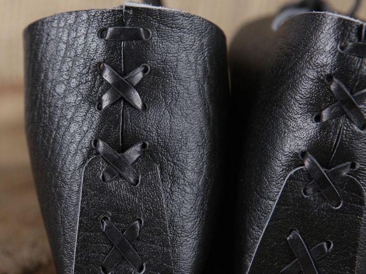 Ballerines médiévales en cuir 38 | noir 6