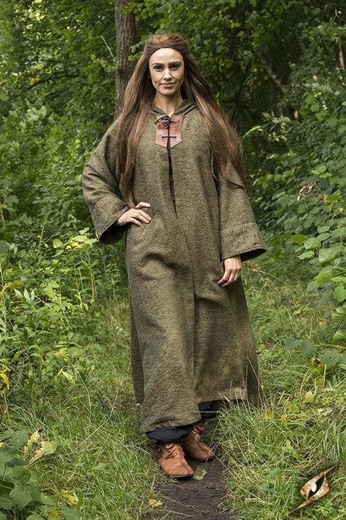 Grand manteau à capuche vert M/L 6
