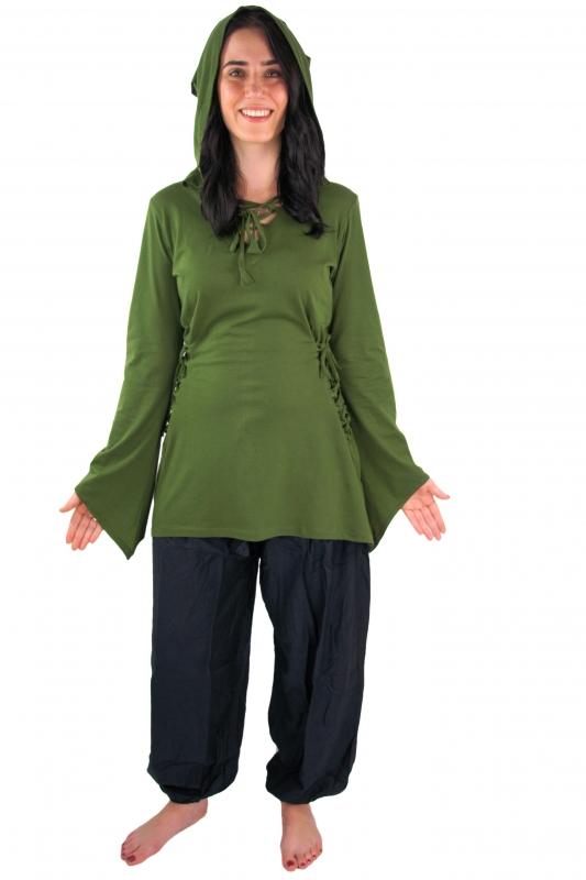 Blouse elfique en vert XXL 6