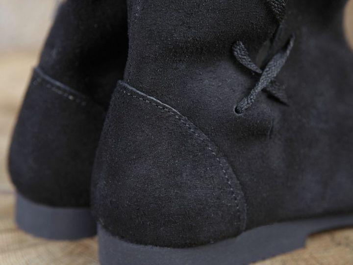 Bottines médiévales cavalières en daim 44 | noir 6