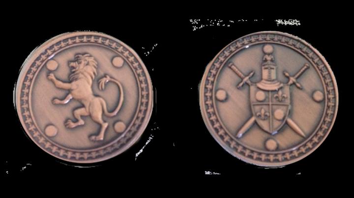 Pièces de monnaie GN Roi avec pochette en cuir 6