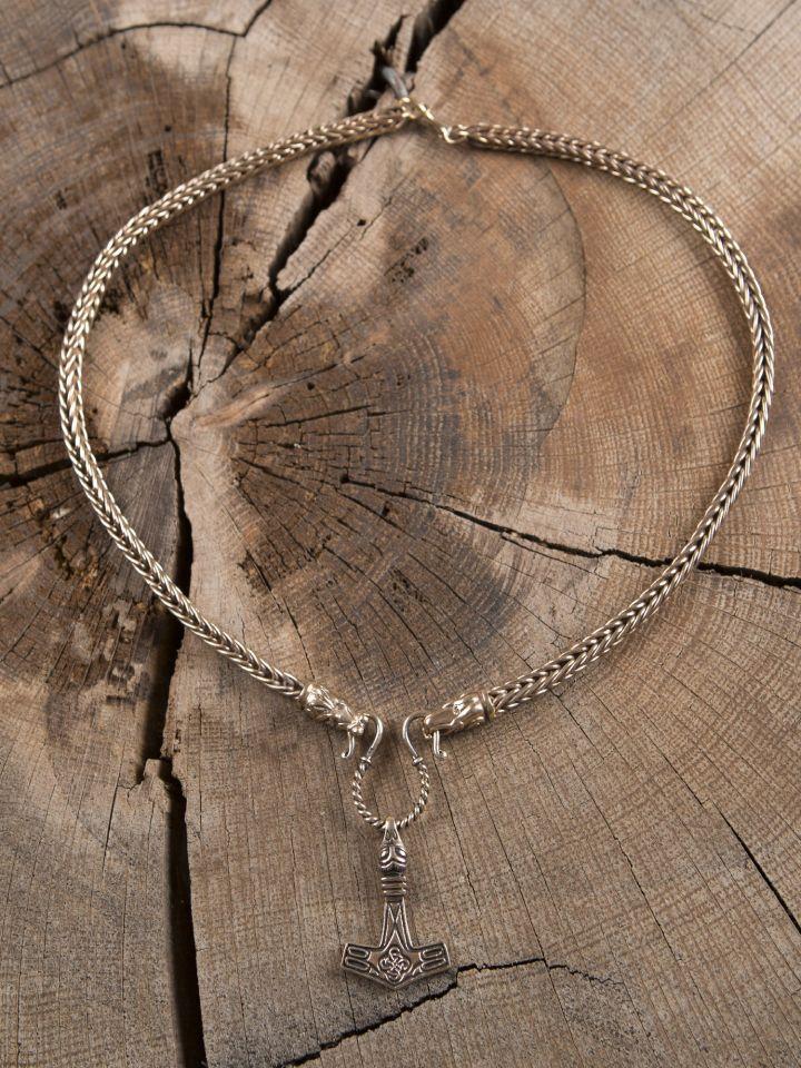 Collier Viking mailles tressées, 65 cm 6