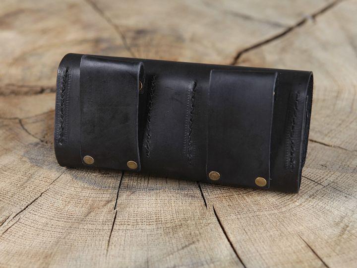 Sacoche de ceinture en cuir et ses cinq flacons 6