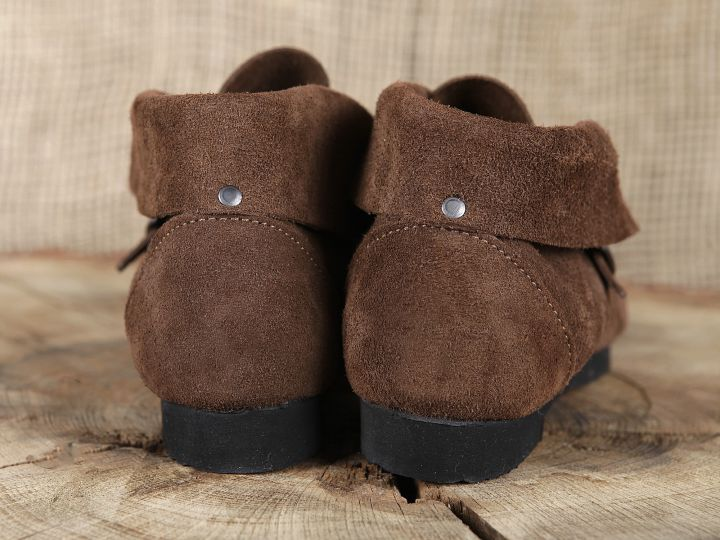 Chaussure en cuir chamoisé 40 | marron 6