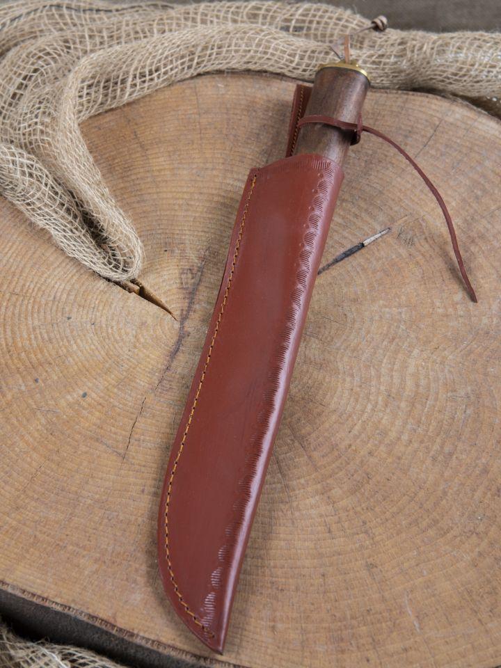 Couteau médiéval avec manche en bois fourreau en cuir inclus 6
