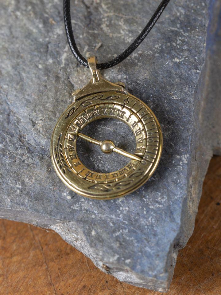 Cadran solaire équatorial en métal argenté 6