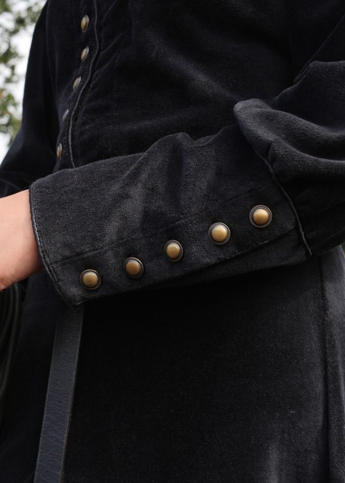 Cotehardie en velours, en noire XL 7