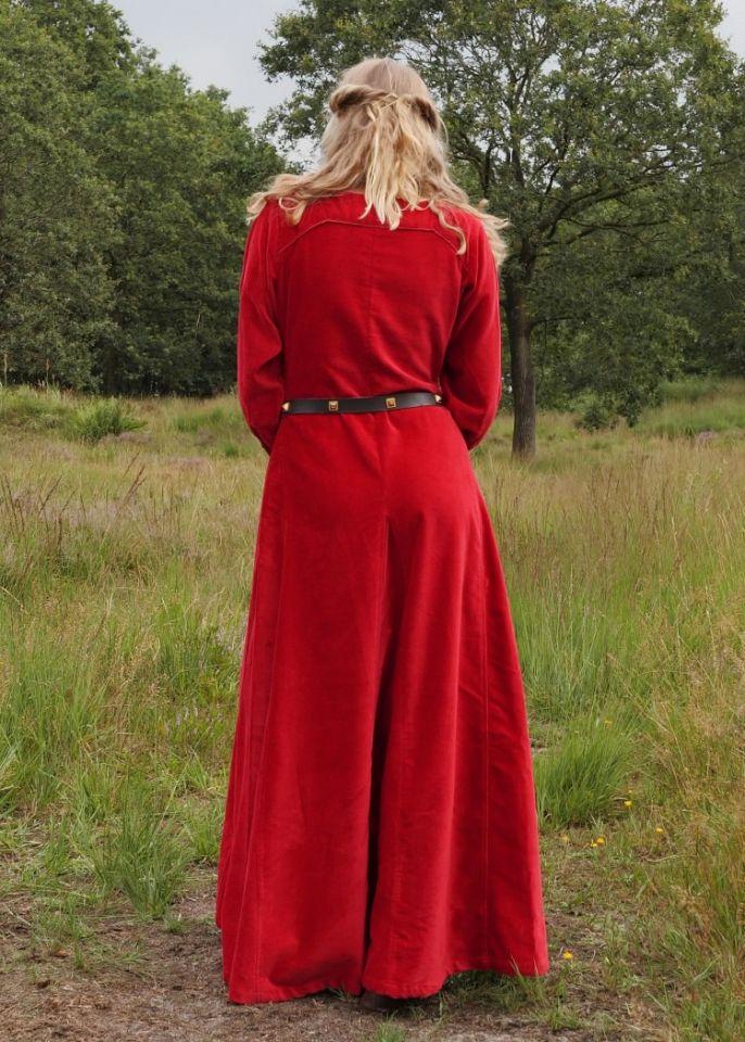 Cotehardie en velours, en rouge 7