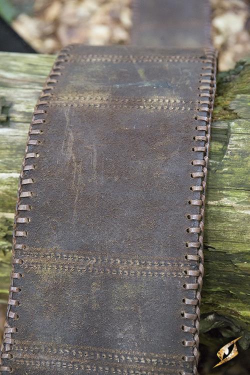 Ceinture double noeud celtique en marron 7