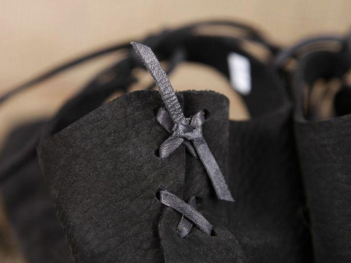 Ballerines médiévales en cuir avec semelle 40   noir 7