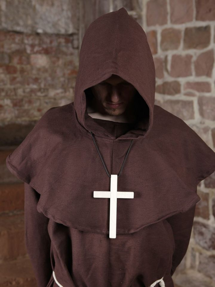Habit de moine marron | avec croix 7