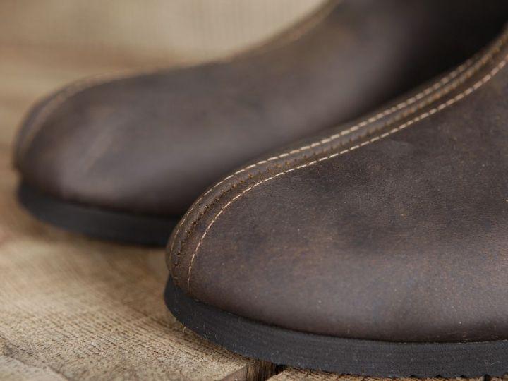 Bottines médiévales en cuir 46   noir 7