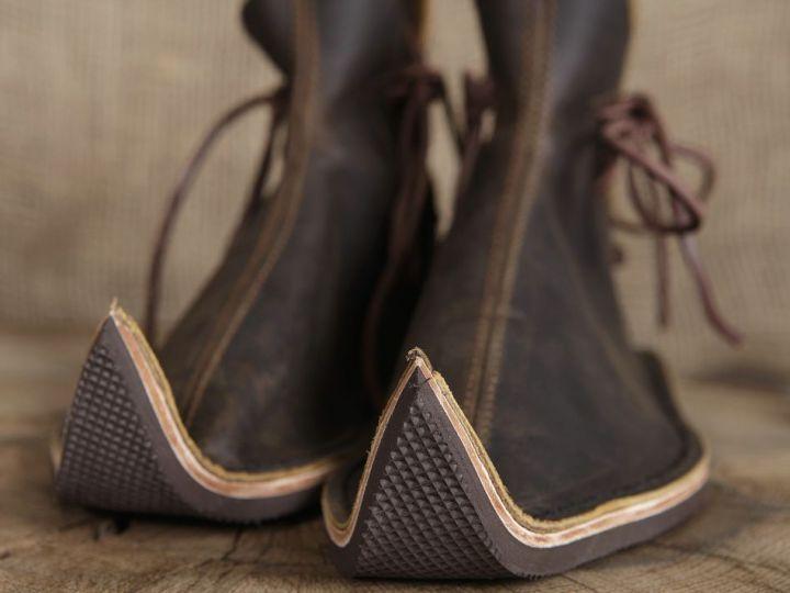 Chaussures médiévales poulaines 46 | marron 7