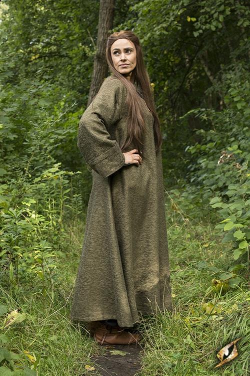 Grand manteau à capuche vert 7