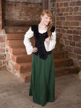 Ensemble jupe médiévale, blouse et gilet L/XL | L | L/XL