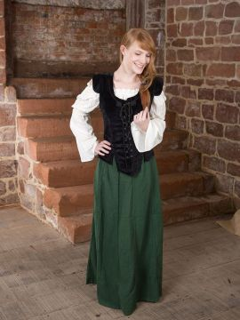 Ensemble jupe médiévale, blouse et gilet L/XL | XL | L/XL