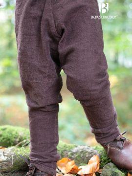 Pantalon pour enfant Ragnarsson, marron 128