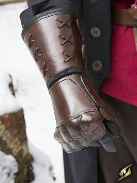 Gantelet en cuir main gauche