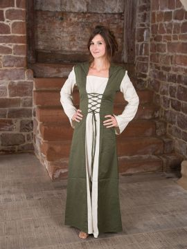 Robe médiévale à capuche S/M