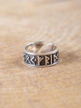 Bague runique en argent grande