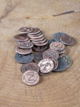 Pièces de monnaie GN Elfes sans pochette en cuir