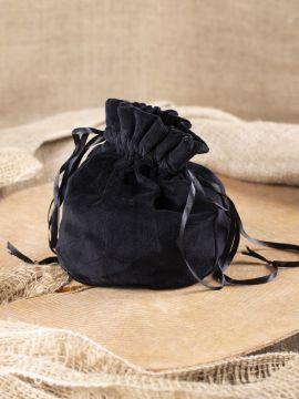 Bourse sac en velours noir
