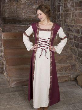 Robe médiévale à manches amovibles S/M