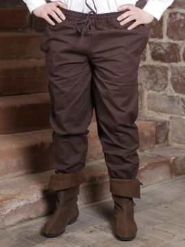 Pantalon médiéval brun foncé M
